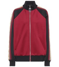 Marc Jacobs Jersey Track Jacket Red