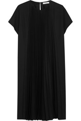 Bouchra Jarrar Pleated Crepe Dress Black
