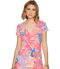 Lilly Pulitzer Michele Top Multi Playa Hermosa Reduced Women's T Shirt Pink
