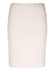 Marc Cain Gingham Pencil Skirt Shell