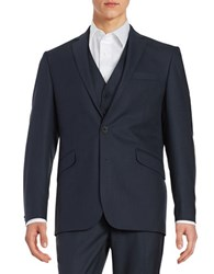 Kenneth Cole Reaction Two Button Jacket Blue