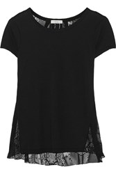 Clu Jersey And Lace Top Black