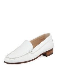 Gravati Metallic Leather Venetian Loafer White