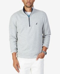 Nautica Men's Big And Tall Quarter Zip Sweatshirt Grey Heather