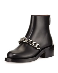 Givenchy Curb Chain Flat Bootie Black