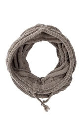 Bickley Mitchell Snood Knit Hooded Scarf Gray