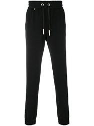 Philipp Plein Stripe Detail Track Pants Cotton Polyamide Spandex Elastane Black