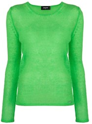 Dsquared2 Round Neck Sweater Green