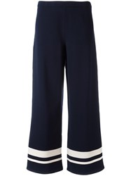 Max Mara 'S Wide Legged Striped Trousers Blue
