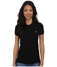 Lacoste Short Sleeve Classic Fit Pique Polo Shirt Black Women's Short Sleeve Knit