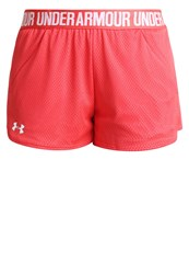 Under Armour Play Up Sports Shorts Pomegranate White Red