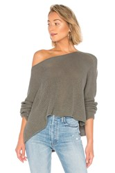 Bcbgmaxazria Long Sleeve Asymmetrical Knit Sweater Army