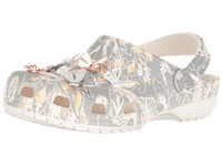 Crocs Classic Botanical Butterfly Clog Light Grey Shoes Gray