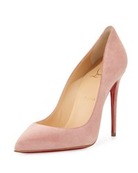 Christian Louboutin Pigalle Follies Suede Red Sole Pump Ronsard Pink
