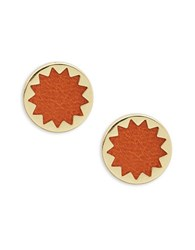 House Of Harlow Faux Leather Sun Posts Gold