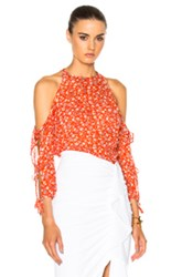 Veronica Beard Flynn Bow Blouse In Red Floral Red Floral