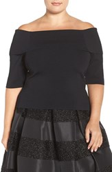 Eliza J Plus Size Women's Off The Shoulder Top
