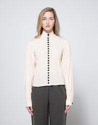 Christophe Lemaire Fitted Shirt In Champagne