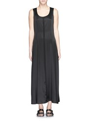 Alexander Wang Stretch Silk Twill Tank Dress Black