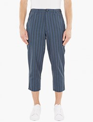 Comme Des Garcons Striped Wool Blend Trousers