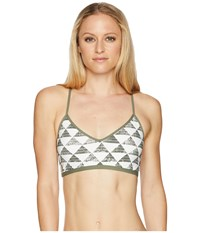Carve Designs Catalina Bikini Top Olive Triangles Swimwear