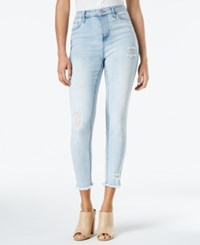 Celebrity Pink Juniors' Ripped Ankle Skinny Jeans Waldorf