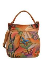 Anuschka Hand Painted Leather Convertible Tote Multi