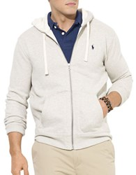 Polo Big And Tall Full Zip Fleece Hoodie Grey