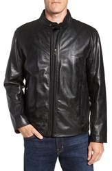 Andrew Marc New York Emerson Lightweight Leather Moto Jacket Black
