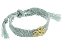 Elizabeth And James Celeste Friendship Bracelet Yellow Gold Grey Bracelet Blue