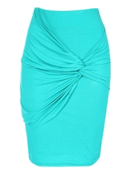 Jane Norman Knot Detail Skirt Green