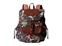 Sakroots Artist Circle Flap Backpack River Peace Backpack Bags Black