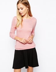 Whistles Annie Sparkle Jumper With Crew Neck Cameopink
