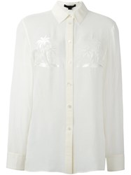 Alexander Wang Palm Embroidered Shirt Nude And Neutrals