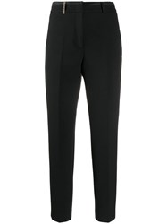 Peserico Tapered Tailored Trousers Black