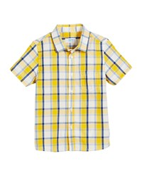 Mayoral Short Sleeve Check Shirt Size 12 36 Months Yellow