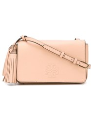 Tory Burch Tassel Detail Small Crossbody Bag Pink And Purple