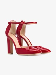 Gianvito Rossi Patent Leather Mary Jane Pumps Red