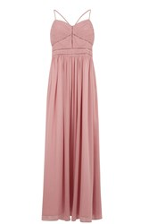 Oasis Trimmed Chiffon Maxi Pink