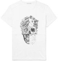 Alexander Mcqueen Printed Cotton Jersey T Shirt White