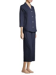 Saks Fifth Avenue Collection Dot Cotton Pajama Set Navy