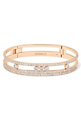Messika Move Romane 18 Karat Rose Gold Diamond Bracelet One Size