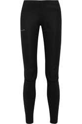 Falke Ergonomic Sport System Windguard Stretch Jersey Running Leggings Black