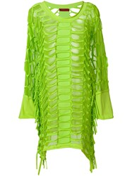 Di Liborio Laser Net Asymmetric Dress Green