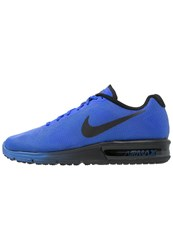 Nike Performance Air Max Sequent Cushioned Running Shoes Racer Blue Black