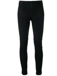 Theory Navalane Leggings Women Lamb Skin 4 Black