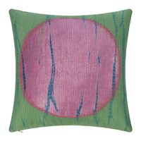 Amara Large Circle Print Cushion Green Pink 45X45cm