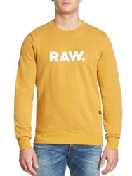 G Star Mattow Graphic Printed Pullover Heather Yellow
