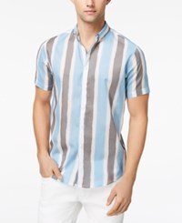 Inc International Concepts Men's Painter Stripes Shirt Created For Macy's Navy Combo