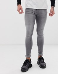 Blend Of America Flurry Extreme Skinny Fit Jeans In Grey